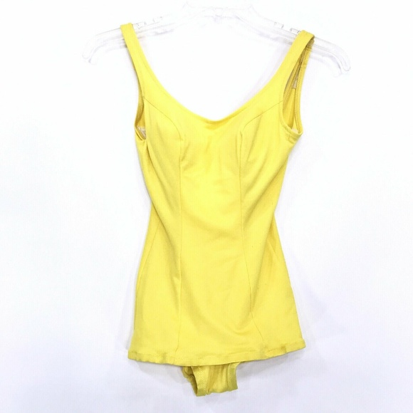 DeWeese Design Other - VINTAGE 50'S Pin Up Swim Suit YELLOW Vtg Sz 10/32